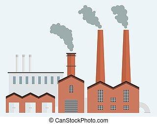 edificio, fábrica
