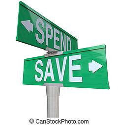 edificio, fiscal, verde, ahorro, riqueza, señalar, importancia, dinero, futuro, flechas, dos, pasar, estabilidad, calle, responsabilidad, palabras, señales, financiero, excepto, su