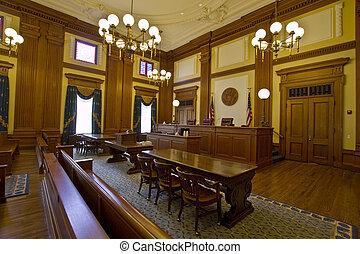edificio, histórico, courtroom