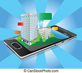 edificio, iphone