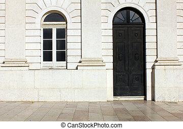 edificio, lisboa, viejo, detalle, portugal