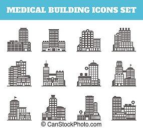 Edificio médico negro