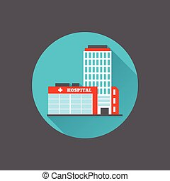 Edificio médico plano