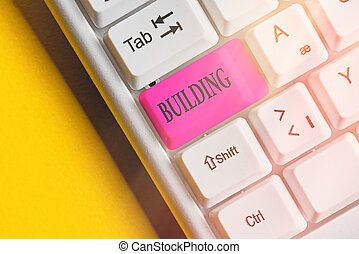 edificio., materiales, empresa / negocio, el montar, arte, escritura, structure., texto, palabra, o, concepto