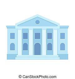 edificio, palacio de justicia, icono