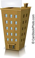Edificio residencial de dibujos animados