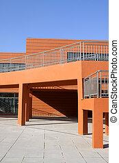 Edificio rojo exterior