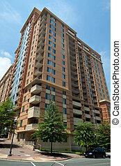 edificio, rosslyn, moderno, apartamento, rascacielos, condo, torre