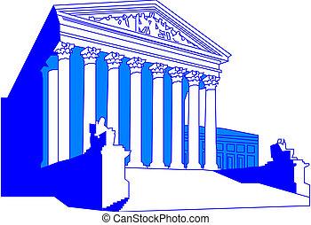 edificio, tribunal supremo, nosotros