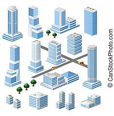 Edificios altos del vector
