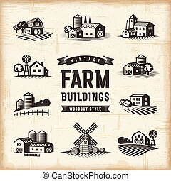 Edificios antiguos de granja