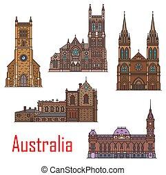 edificios, australia, arquitectura, señales, ciudad