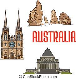 Edificios australianos y puntos de referencia