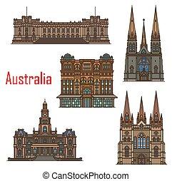 edificios, catedral, australia, sydney, arquitectura