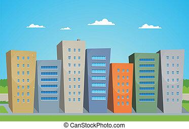 Edificios de cartón