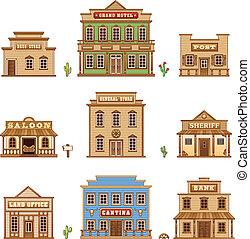 Edificios del salvaje oeste
