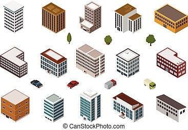 Edificios isométricos