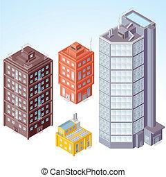 Edificios Isometricos número uno