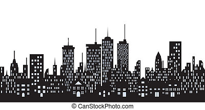 Edificios urbanos en la ciudad