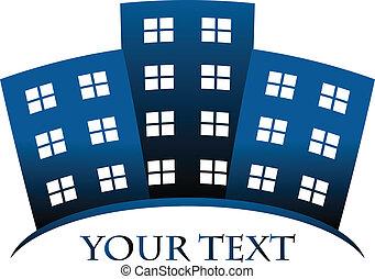 Edificios y espacio para su texto