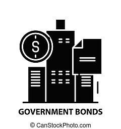 editable, negro, vector, icono, ilustración, gobierno, bonos, señal, golpes, concepto