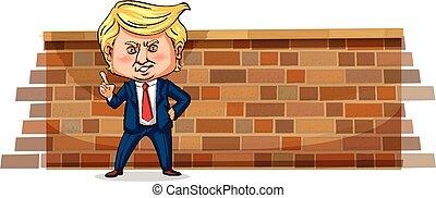 Editorial - retrato de Donald J. Trump, presidente de los EE.UU., Janurary 2018