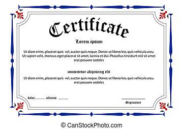 educación, certificado