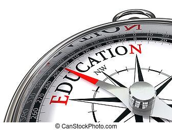 educación, compás