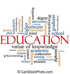 Educación, concepto de nubes