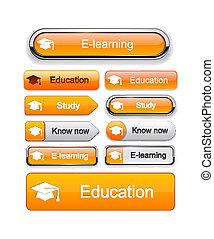 Educación de botones modernos.