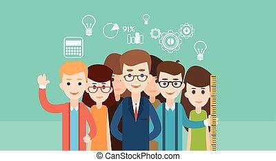 Educación para niños de la escuela de estudiantes