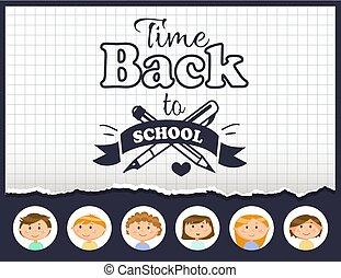 Educación y alumnos, vuelvan al vector de tiempo escolar