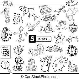 educativo, juego, colorido, s, libro
