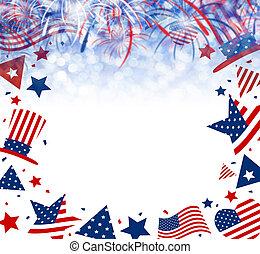 EE.UU. 4 de julio fondo de independencia