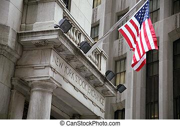 EE.UU., Nueva York, Wallstreet, bolsa de valores