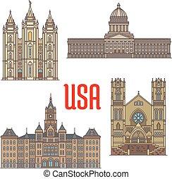 EE.UU. viaja icono de la arquitectura de Utah