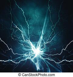 Efecto de iluminación eléctrica, antecedentes técnicos abstractos para su diseño