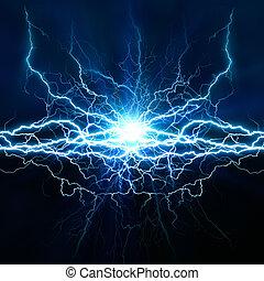 efecto, fondos, resumen, su, techno, iluminación, diseño, eléctrico