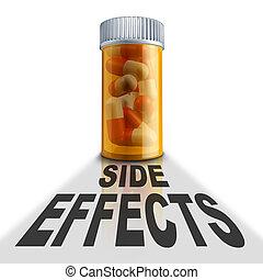 Efectos secundarios de medicamentos recetados