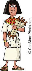 egipcio, funcionario, antiguo