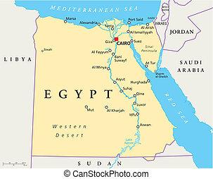 egipto, mapa