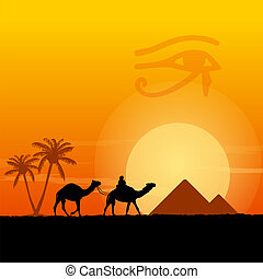 egipto, símbolos, pirámides