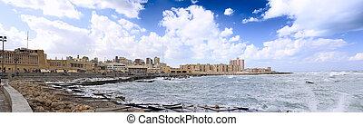 egipto, seafront., alejandría