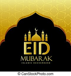 Eid Mubarak felicitando diseño de fondo