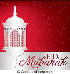 """eid, mubarak"", format., eid), vector, (blessed, tarjeta, linterna"