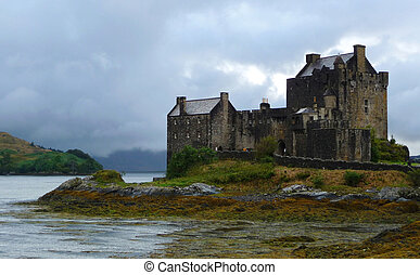 eilean, castillo, tierras altas, escocia, donan