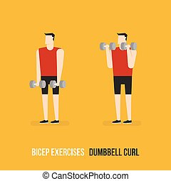 Ejercicios de bíceps.