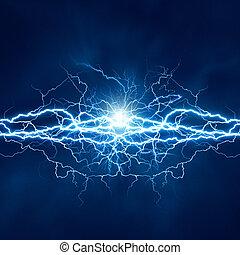 eléctrico, efecto, fondos, resumen, techno, iluminación, diseño, su