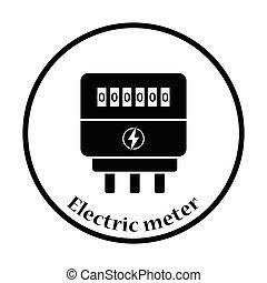 eléctrico, metro, icono