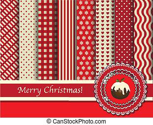 El álbum de Navidad es rojo y crema
